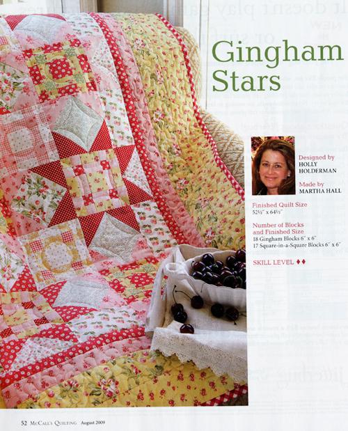 Gingham Stars