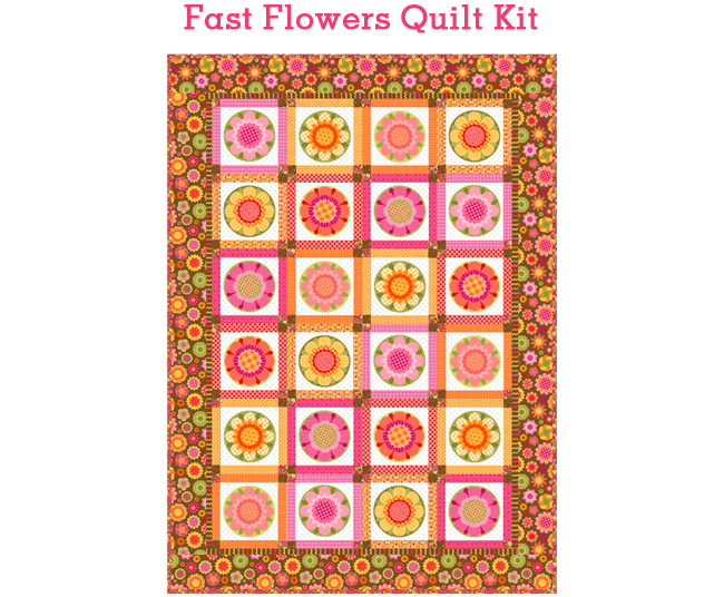 Fun flower brown quilt 650 flat